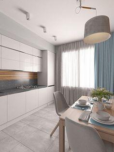 40 Relaxing Minimalist Kitchen Design Ideas - Home Design - Interior Desing, Interior Modern, Home Interior, Interior Design Kitchen, Coastal Interior, Luxury Interior, Interior Ideas, Minimalist Kitchen Interiors, Minimalist Decor
