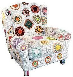 Crochet chair cover