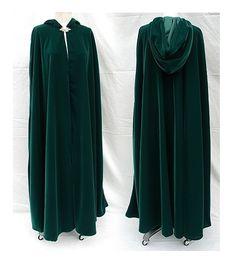 hunter green velvet cloak