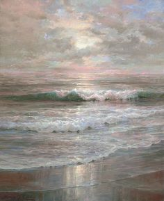 Henry Newell Cady (1849-1935) Beach At Sunset, ca. 1890's  104 notesSimerenya