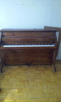 Used (normal wear) - Pre owned  In good condition  Hardman full sized piano  Solid wood.  Dimensions- 57 inches long and 40 inches tall  - 1 foot pedal is loose - no stool - needs to be tuned and wiped down  Piano still works fine. Just have not used in in years.  The piano is very heavy. You will need help to move the piano. You will also need a truck or van to transport the piano.