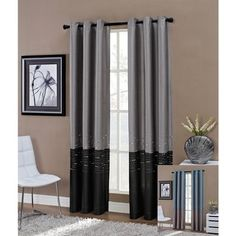 @Overstock - This Horizon window curtain panel is uniquely designed and patterned in elliptical shapes on wavy horizontal embroidery lines to decorate your living room elegantly. This curtain is available in two types of colors, and perfect for any home decor.http://www.overstock.com/Home-Garden/Horizon-Embroidered-Grommet-84-inch-Window-Curtain-Panel/6491438/product.html?CID=214117 $25.49