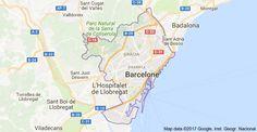 Barcelone, Barcelona, Espagne: carte