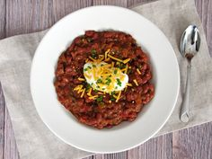 Red Wine Chili | The Baby Steps Dietitian