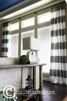 Customized long window curtains for large windows on the cheap - 2 sets of shower curtains sewn together! - Cute Decor