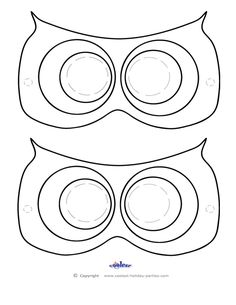 Printable Owl Mask - Coolest Free Printables Don't forget the beak! Bird Template, Owl Templates, Heart Template, Mask Template, Flower Template, Crown Template, Applique Templates, Applique Patterns, Butterfly Template