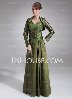 Mother of the Bride Dresses - $138.99 - A-Line/Princess V-neck Floor-Length Taffeta Mother of the Bride Dress With Lace Beading (008021731) http://jjshouse.com/A-Line-Princess-V-Neck-Floor-Length-Taffeta-Mother-Of-The-Bride-Dress-With-Lace-Beading-008021731-g21731