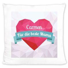 Kissen mit Grafik-Herz zum Muttertag