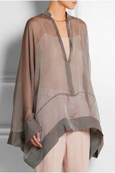 Haider Ackermann | Crinkled silk-chiffon blouse | http://NET-A-PORTER.COM