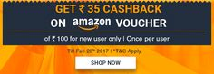 Buy Amazon Voucher Worth Rs.100 From Zingoy & Get Rs.35 Cashback [ Only For New Users ]