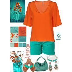 Orange & Teal