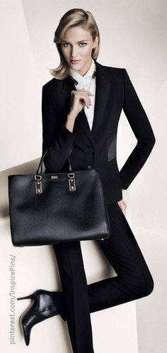 Hugo Boss FW2013. The perfect way to do 9 to 5 chic #officewear #9to5 #classic. V