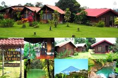 Cabaña en La Fortuna, Costa Rica. Beautiful, Peaceful, and affordable, Cabin is minutes from downtown, situated alongside Rio Fortuna and 5klm from the Arenal Volcano. Cabins have an amazing Volcano view and private access to a refreshing swim in the Fortuna River.  Cabins are equ...