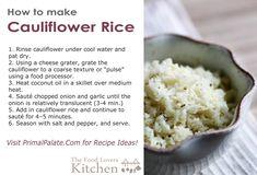 How to Make Cauliflower Rice - Phase 3 hCG Diet recipe