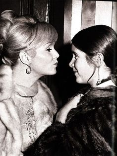 Debbie Reynolds and her daughter Carrie.