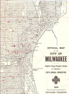 Old Map Of Milwaukee Vintage Map United States Of America MKE - Vintage milwaukee map