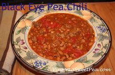 Black Eye Pea Chili - Healthy and Delicious!