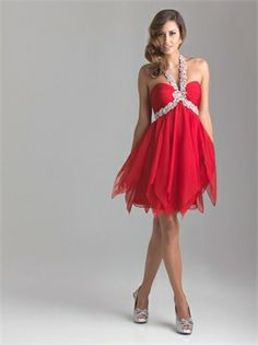 KeyHole Halter Beaded Short Chiffon Prom Dress PD11278 www.dresseshouse.co.uk $149.0000  ----2013 Prom Dresses,2013 Prom Dresses UK,2013 cocktail dresses,prom dresses 2013