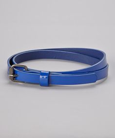 Take a look at this Blue Skinny Belt by Delightfully Preppy Kids on #zulily today!