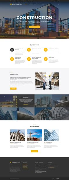 Website Template , Construction - Construction Company Responsive Multipage
