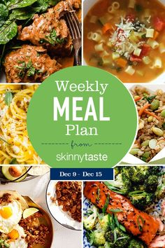 A free 7-day flexible weight loss meal plan including breakfast, lunch and dinner and a shopping list. All recipes include calories and updated WW Smart Points. Meal Plan So winter and cold weather have hit!! Check out some Slow Cooker recipes so you can have a warm meal waiting on you when you get home, […] The post Skinnytaste Meal Plan (December 9-December 15) appeared first on Skinnytaste.