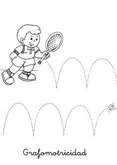 Fichas de grafomotricidad para trabajar los trazos y mejorar la motricidad. Fichas que podemos colorear con dibujos muy divertidos y sencillos para los más peques