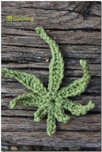 Watch This Video Beauteous Finished Make Crochet Look Like Knitting (the Waistcoat Stitch) Ideas. Amazing Make Crochet Look Like Knitting (the Waistcoat Stitch) Ideas. Crochet Pot Leaf, Crochet Leaves, Crochet Motif, Crochet Flowers, Free Crochet, Crochet Patterns, Crochet Ideas, Crochet Stitches, Crochet Skull