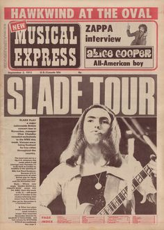 New Musical Express, September 1972 (Slade)