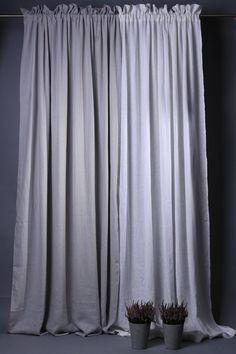 Natural linen curtains / Natural linen window panel / Linen drapes