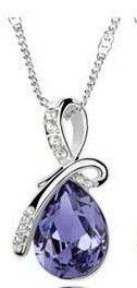 18K GP Swarovski crystal necklace pendant