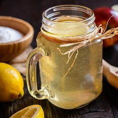 One way to brighten your morning: An Apple Cider Vinegar Tonic. Infused with lemon, turmeric, and honey to add an additional kick. Grab the recipe! Taking Apple Cider Vinegar, Apple Cider Vinegar Detox, Organic Apple Cider Vinegar, Vinegar Detox Drink, Drinking Vinegar, Drinking Lemon Water, Coconut Benefits, Matcha Benefits, Cider Making