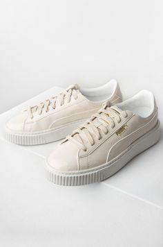 Puma Patent Creeper Sneakers in Beige ab3532d85dd49