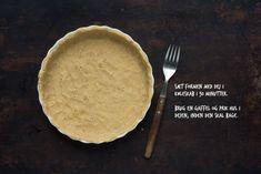Hjemmelavet tærtedej | Nem og god opskrift på tærtedej Pie, Drinks, Desserts, Food, Torte, Drinking, Tailgate Desserts, Cake, Beverages