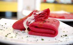 Красные блины | Кулинарные рецепты от «Едим дома!»