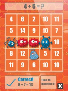Math Bingo by ABCya.com. Practice  addition, subtraction, multiplication and division with this fun app. Three different difficulty levels.