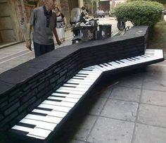 Piano park bench