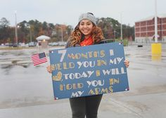 USMC Homecoming Photography » Rally Point Proud Navy Girlfriend, Homecoming Signs, Cute Surprises, Usmc, Rally, Girlfriends, Hair Beauty, Crafting, Military