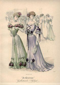 Ballgowns, Netherlands, 1905, De Gracieuse