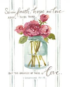 Greatest Of These Is Love Corinthians Canvas by Gracelaced faith scripture print artwork Scripture Verses, Bible Verses Quotes, Bible Scriptures, Godly Quotes, Qoutes, Scripture Images, Healing Scriptures, Healing Quotes, Prayer Quotes