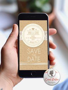 Save the Date DIGITAL | Rústico