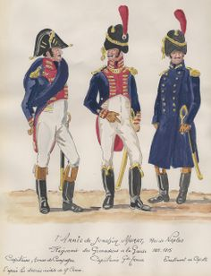 Capitani e tenente del rgt. granatieri della guardia reale di Murat