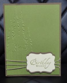 good masculine card  use masculine embossing folder, too