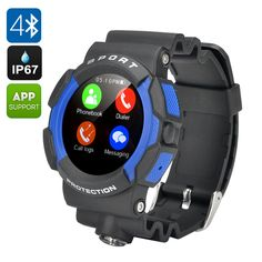 The No.1 A10 Rugged smart watch has and IP67 rating that brings it 3 proof protection meaning its waterproof, dust proof and shock proof. This is great for the adventures outdoor types who don't want to risk making their phones out when skiing, snowboarding, mountain bike, white water rafting or climbing.