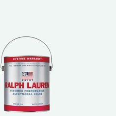 3b3b4c2f7e5f Ralph Lauren 1-gal. Brilliant White Flat Interior Paint-RL1001F - The Home  Depot