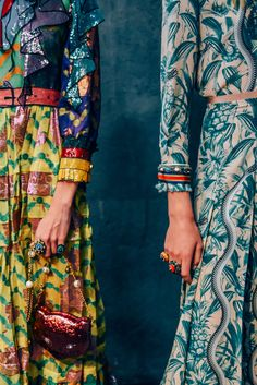 love the mixture of prints in this shot [Gucci S/S16. Photo by Tommy Ton]