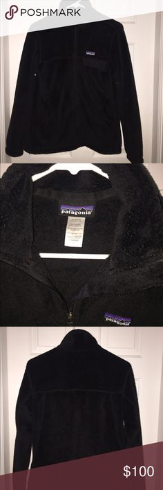 Patagonia Re-tool Full Zip Fleece black patagonia full zip fleece jacket. excellent condition, i just prefer the pullover style. Patagonia Jackets & Coats