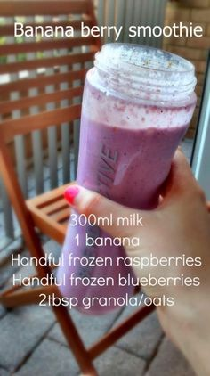 Healthy Recipes For Weight Loss Smoothies Drinks 39 Ideas For can find Healthy shakes and more on our website.Healthy Recipes For Weight Loss Smoothies Dri. Banana Berry Smoothie, Apple Smoothies, Juice Smoothie, Smoothie Drinks, Healthy Smoothies, Healthy Drinks, Diet Drinks, Making Smoothies, Berry Smoothie Recipe