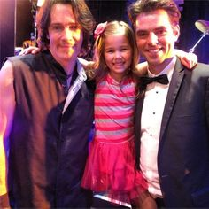 Rick Springfield, Brooklyn Rae Silzer, and Jason Thompson behind the scenes of the Nurses Ball 2013