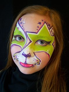 Rock star tiger face painting