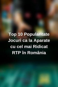 Top 10 Popularitate Jocuri ca la Aparate cu cel mai Ridicat RTP în România! Descoperă avantajele oferite de volatilitatea sloturilor🎲 celor mai populare din cazinourile românești și câștigă premii spectaculoase🎁💸 #jocuri #jocuricalaaparate #Romania #casino Mai, News